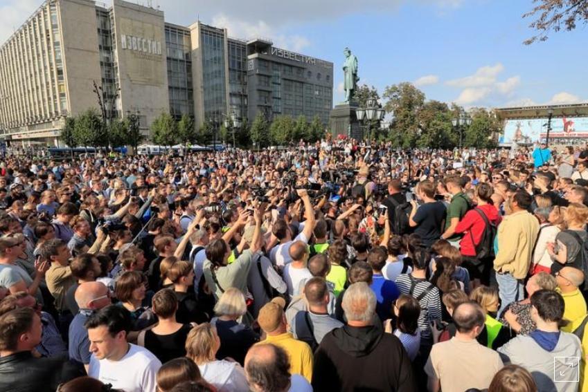 Пушкин снова стал символом свободы / Вчерашнее фото 31.08.19