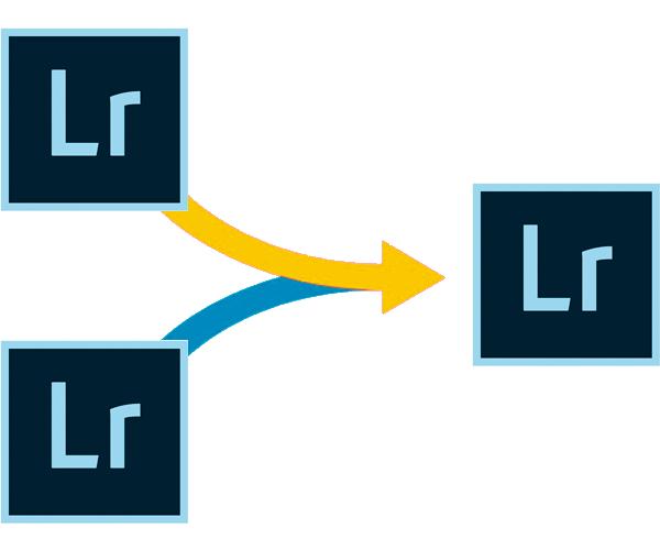 Как объединить два каталога Lightroom