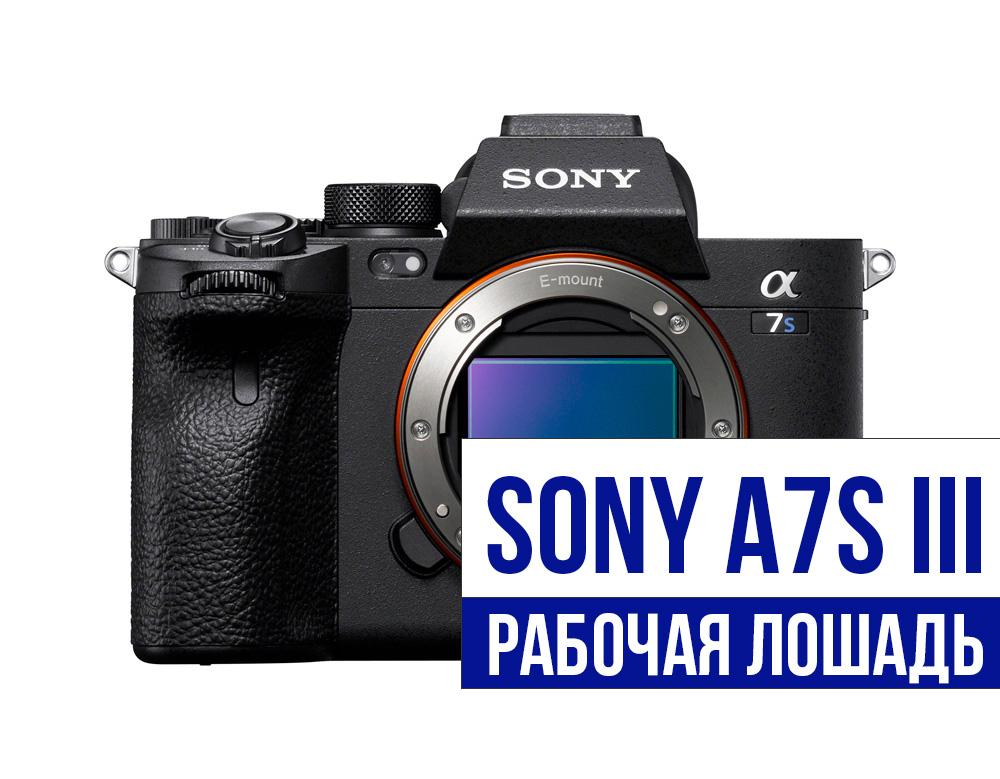 Sony a7s III — «рабочая лошадь» за 3500