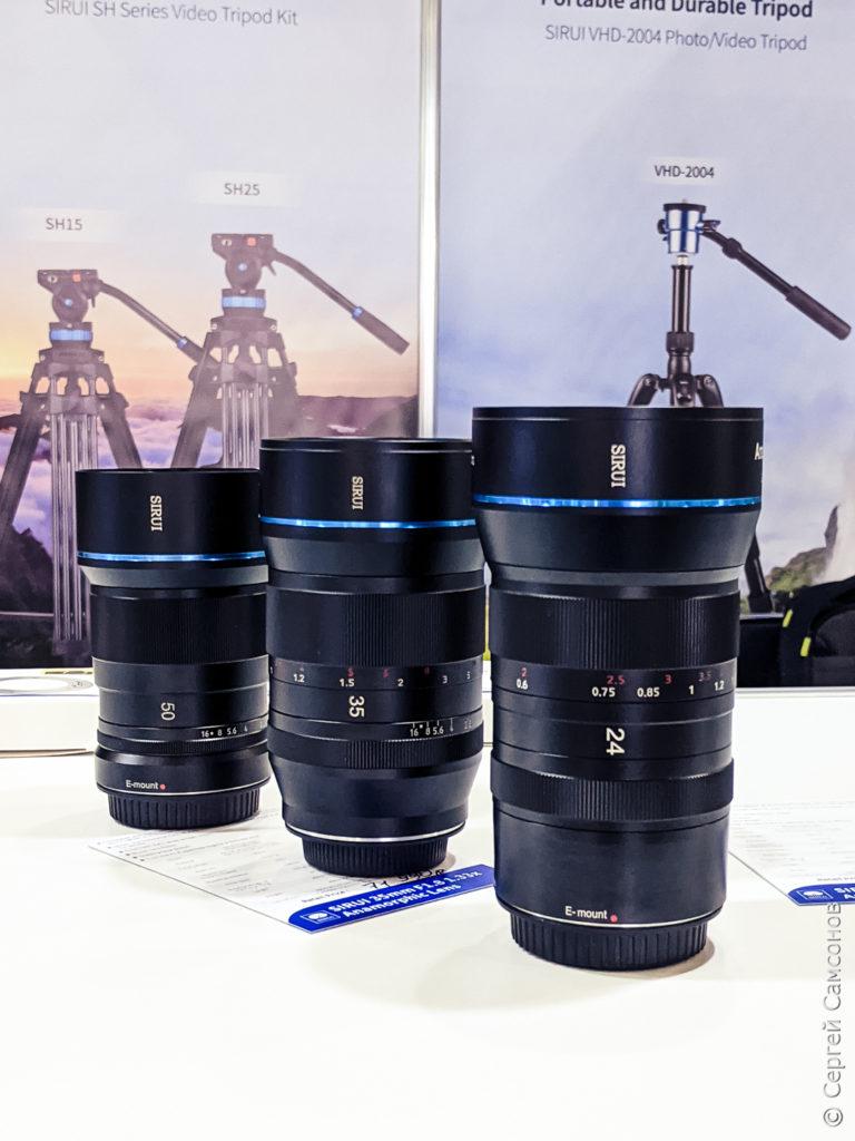 Анаморфоты Sirui 24, 35 и 50 мм для кроп-байонетов