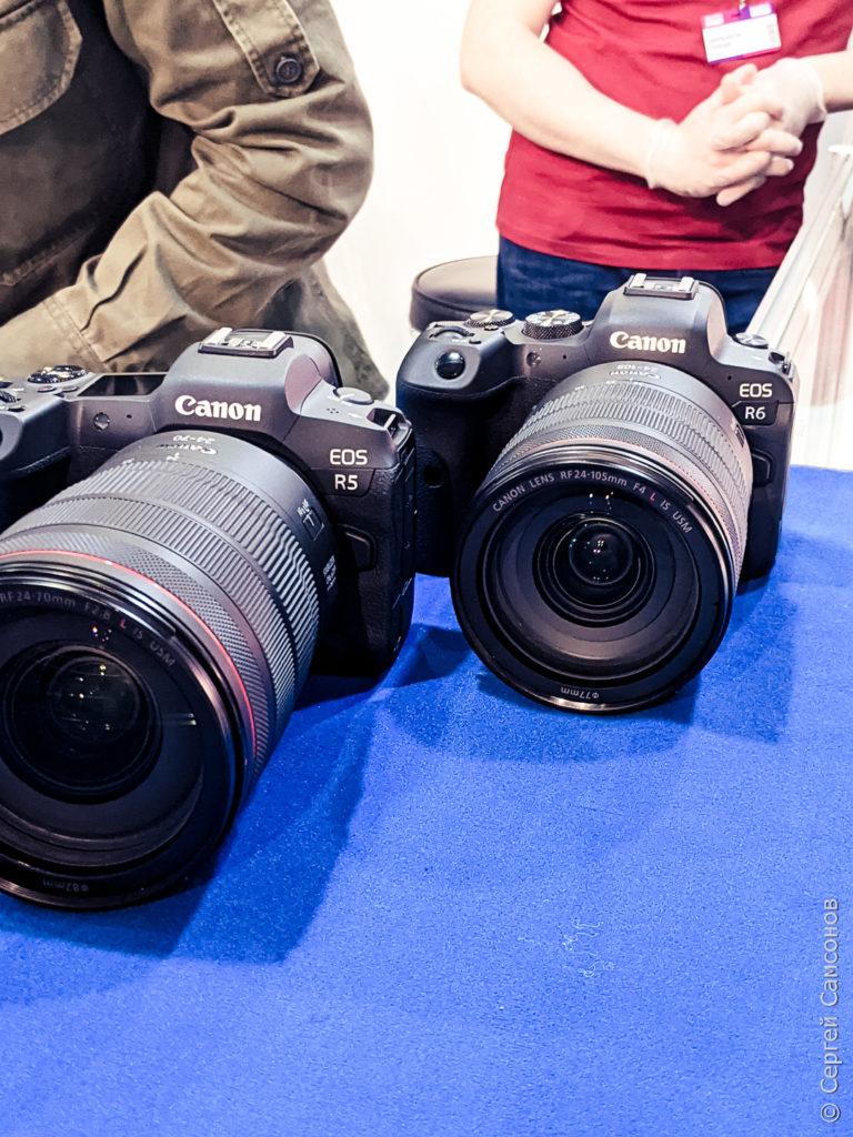 Камеры Canon R5 и R6
